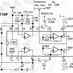 Схема электронных регуляторов громкости