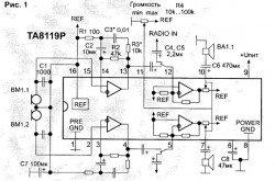 цифровой регулятор громкости на микросхеме