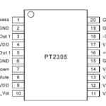 Усилитель низкой частоты с регулятором громкости РТ2305