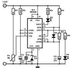 Схема таймера 555