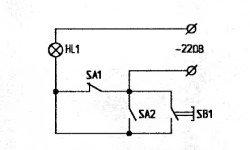 схема выключателя света