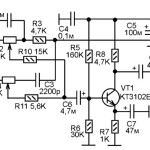 Транзисторный предварительный усилитель НЧ с регулятором тембра