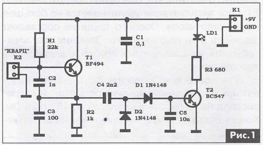 как проверить кварцевый резонатор мультиметром