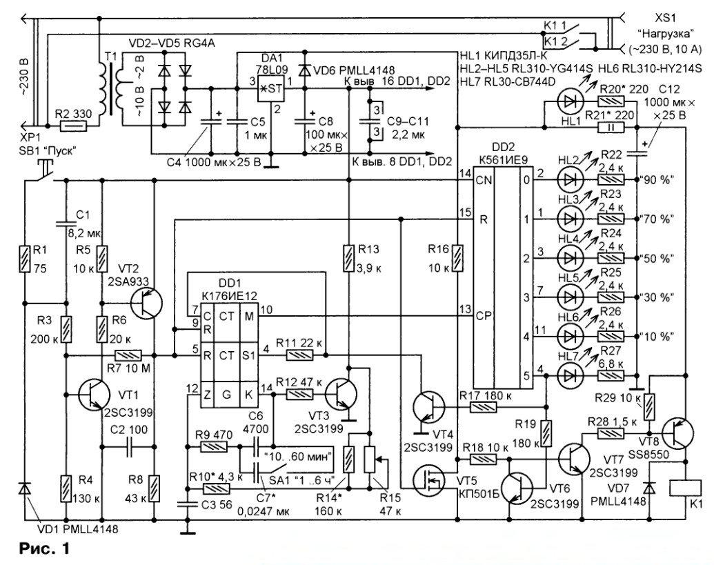 Самодельный таймер включения и выключения электроприборов