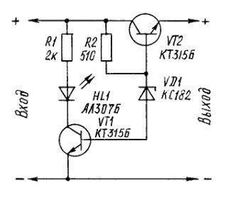 Стабилизатор напряжения на биполярном транзисторе