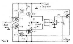 аудио усилитель мощности на полевых транзисторах