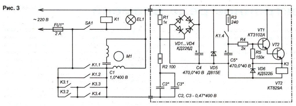 Автоматическое вкл/выкл вентилятора