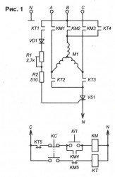 динамическое торможение асинхронного двигателя схема