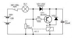 Энергосберегающее реле на транзисторе