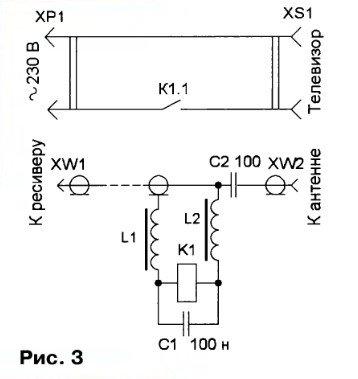Фильтр питания для антенны