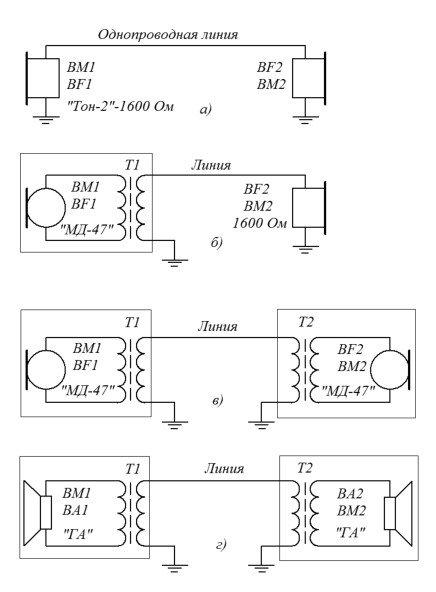 Схема проводной связи без батареек