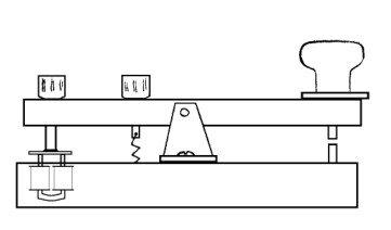 Телеграфный ключ - азбука Морзе