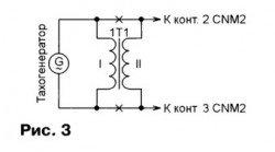 Подключения трансформатора в тахогенераторе